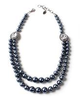 Amrita Singh Women's Necklaces Grey - Gray Imitation Pearl & Crystal Double-Strand Necklace