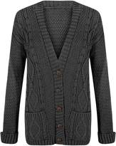 ApplesBottom Women Granddad Button Long Sleeve Knitted Cardigan