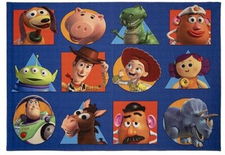 Disney Toy Story Squares Multicolor Area Rug