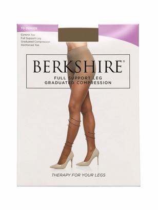 Berkshire Women's Relief Control Top Support Pantyhose-Reinforced Toe 8100