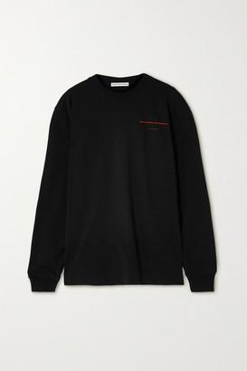 Alexander Wang Oversized Printed Cotton-jersey Sweatshirt - Black
