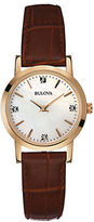 Bulova Ladies Rose Goldtone Watch with Mother of Pearl Dial