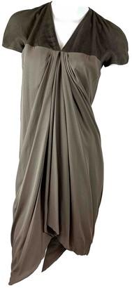 Rick Owens Brown Silk Dress for Women