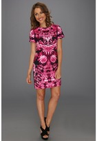 MICHAEL Michael Kors Petite Kew Grdn S/S Dress (Neon Pink) - Apparel