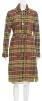 Philosophy di Alberta Ferretti Lightweight Virgin Wool Plaid Coat