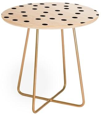 Deny Designs Garima Dhawan Vintage Dot Blacks Round Side Table