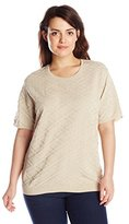 Alfred Dunner Women's Plus-Size Short-Sleeve Sweater