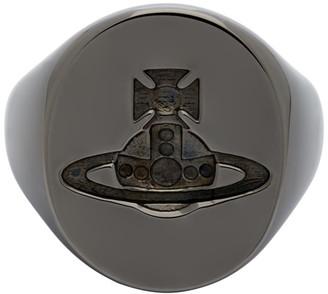 Vivienne Westwood Gunmetal Seal Ring