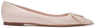 Valentino Pink Garavani VLogo Ballerina Flats
