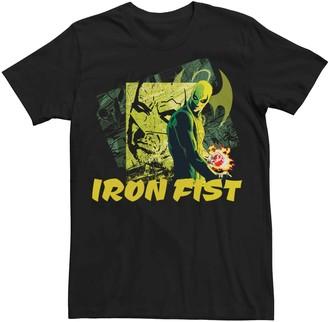 Iron Fist Men's Marvel Retro Panels Poster Tee