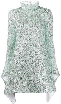 Halpern sequin embroidered mini dress