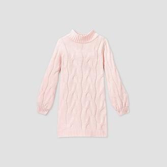 Cat & Jack Girls' Long Sleeve Mock Neck Sweater Dress - Cat & JackTM Blush