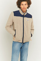 Penfield Mattawa Tan And Navy Zip Fleece Jacket