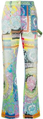 Versace all-over print jeans