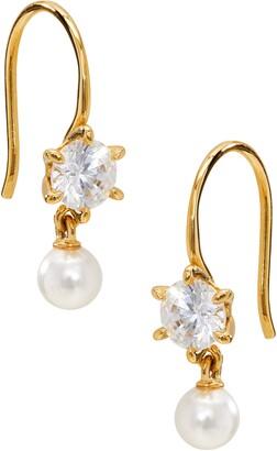 AJOA Imitation Pearl & Cubic Zirconia Drop Hook Earrings