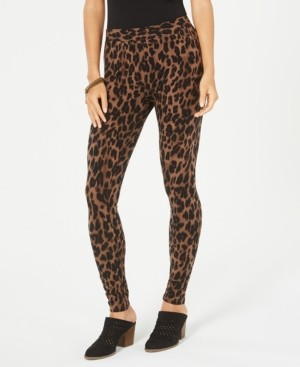 Style&Co. Style & Co Petite Animal-Print Pull-On Leggings, Created for Macy's