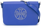 Tory Burch logo motif crossbody bag - women - Calf Leather - One Size