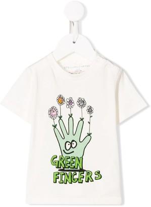 Stella McCartney Green Fingers print T-shirt