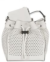 "Rag & Bone White Perforated ""aston"" Bucket Bag"