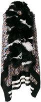 Missoni fur trim knitted cape