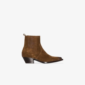 Saint Laurent Brown Lukas Suede Boots