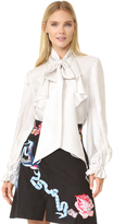 Temperley London Atlas Secretary Bow Blouse