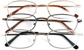 Optx 20/20 Alpha Alloy Readers, Metal Readers +500, (Pack of 3)