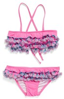Pilyq Girl's Tassel Ruffle Two-Piece Swimsuit