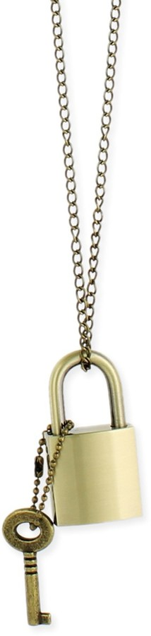 Z Designs Gold Lock & Key Necklace