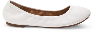 Lucky Brand Women's Emmie Foldable Ballet Flats Bright White Size 5 Fabric From Sole Society