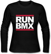 JeFF Women's Run BMX O-neck Long Sleeve Shirt (US Size)