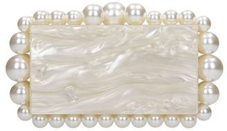 Cult Gaia Eos Clutch In White Acrylic