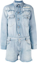 MM6 MAISON MARGIELA denim playsuit - women - Cotton - 38