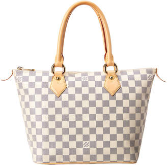 Louis Vuitton Damier Azur Canvas Saleya Pm