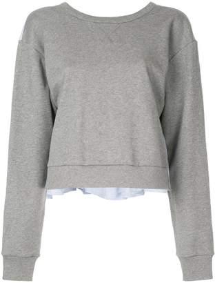 3.1 Phillip Lim tie-back ruffle sweatshirt