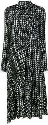 Christian Wijnants Abstract Wave Print Dress