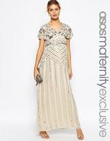 Asos Linear Embellished Maxi Dress