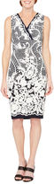 Melrose Sleeveless Floral Sheath Dress