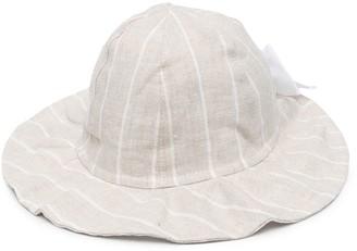Il Gufo Striped Linen Hat