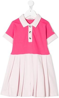Moncler Enfant Colour-Block Polo Dress