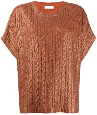 Fabiana Filippi short-sleeved cashmere top