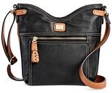 Bolo Women's Faux Leather Crossbody Handbag - Black/Brown