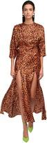 Leopard Print Dress W/ Slits