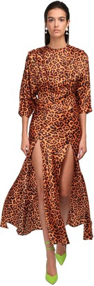 ATTICO Leopard Print Dress W/ Slits