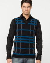 Le Château Wool Blend Check Sweater Vest