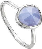 Monica Vinader Siren sterling silver and blue lace agate medium stacking ring