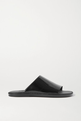 Ann Demeulemeester Crinkled Patent-leather Slides - Black