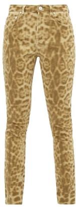 Burberry Leopard-print Stretch-denim Skinny Jeans - Leopard