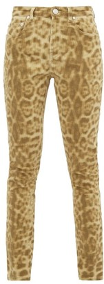 Burberry Leopard-print Stretch-denim Skinny Jeans - Womens - Leopard