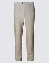 M&s Collection Pure Linen Easy To Iron Chinos